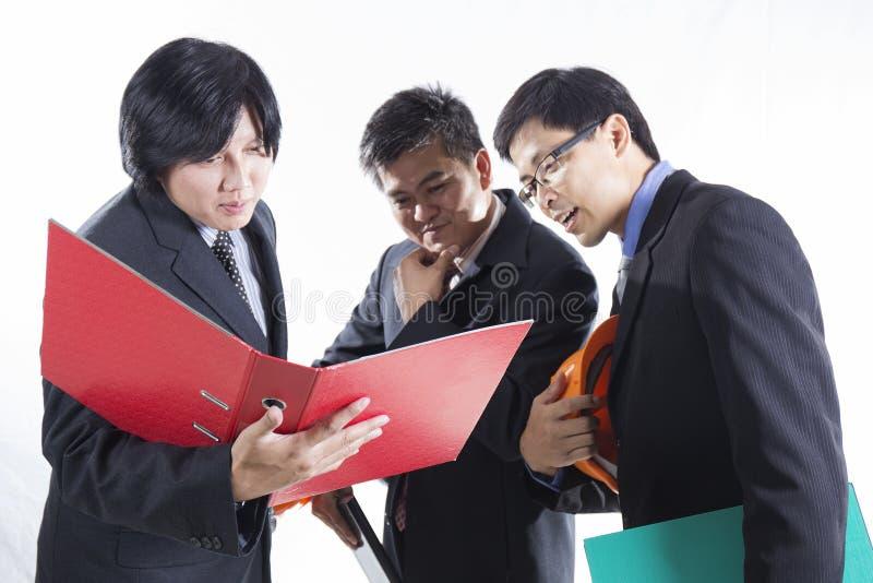 Grupo de reunião preparada homem do coordenador imagem de stock