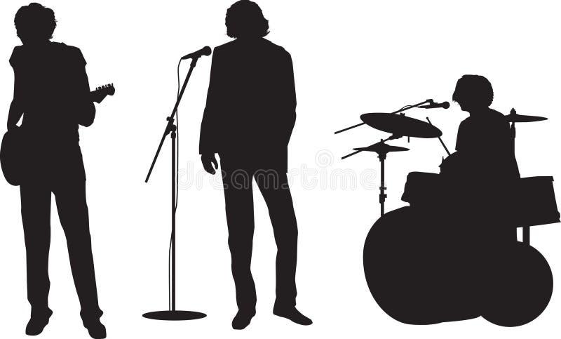Grupo de rock ilustração royalty free