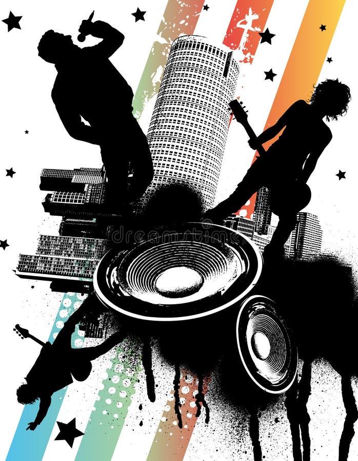 Grupo de rock urbano ilustração do vetor