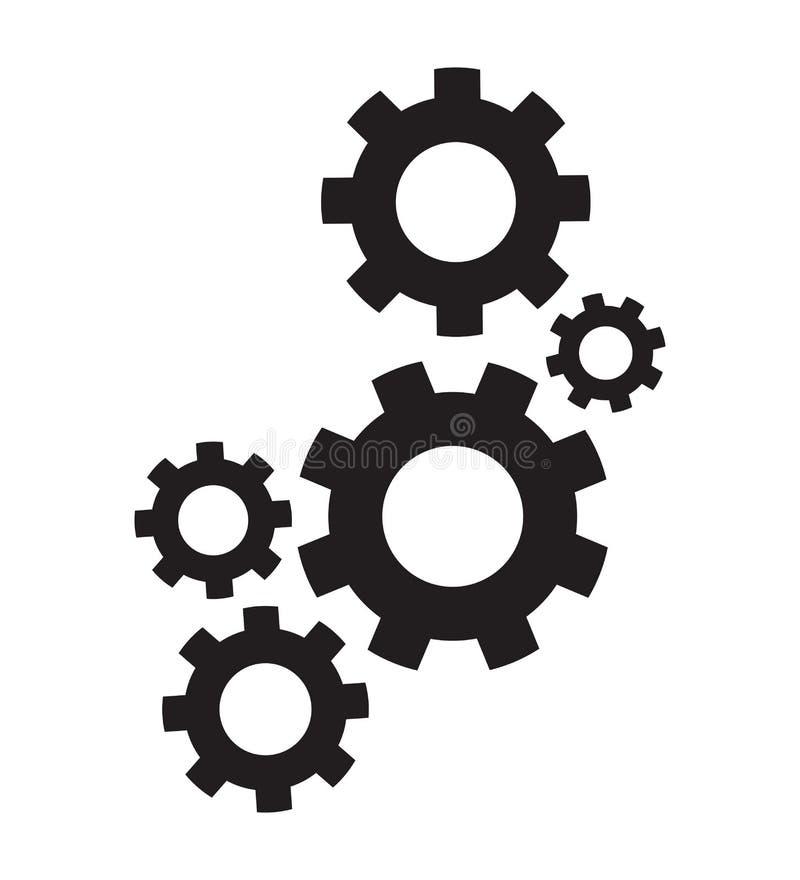 Grupo de rodas denteadas ilustração do vetor