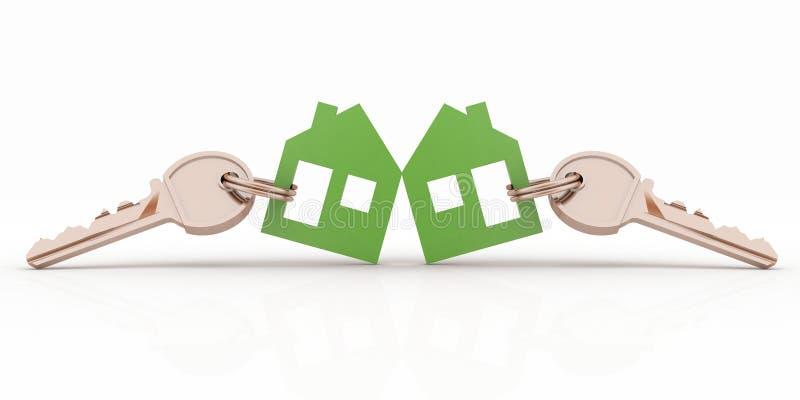 Grupo de símbolo modelo da casa com chaves ilustração do vetor