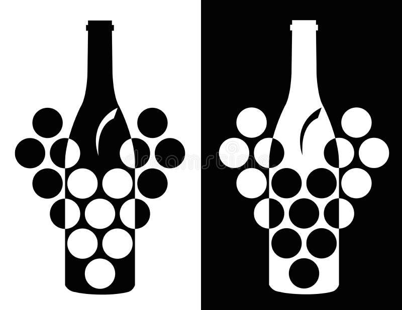 Download Grupo de símbolo do vinho ilustração do vetor. Ilustração de álcool - 29825355