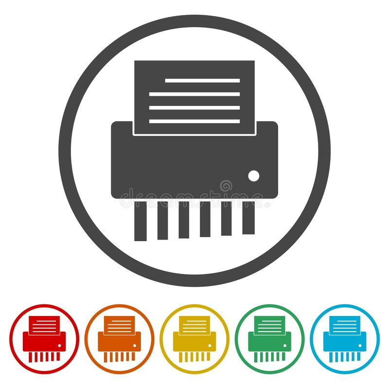 Grupo de símbolo wearable da tecnologia de Smartwatch ilustração stock