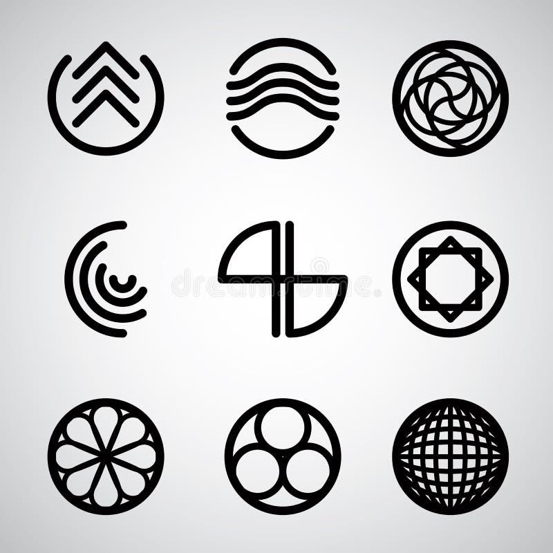 Grupo de símbolos abstratos 2 ilustração royalty free