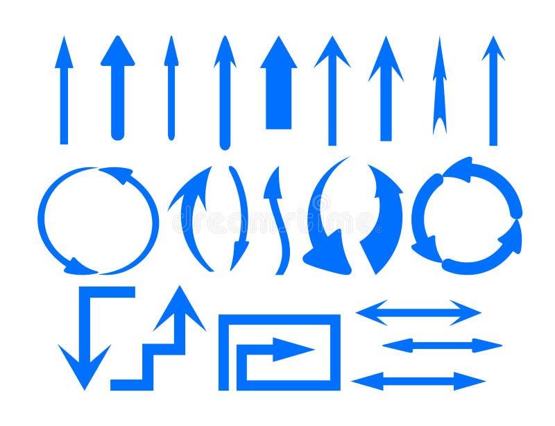 Grupo de símbolos das setas ilustração do vetor