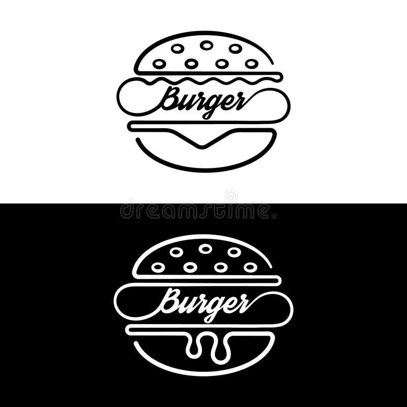 Grupo de sanduíche dos crachás ilustração royalty free