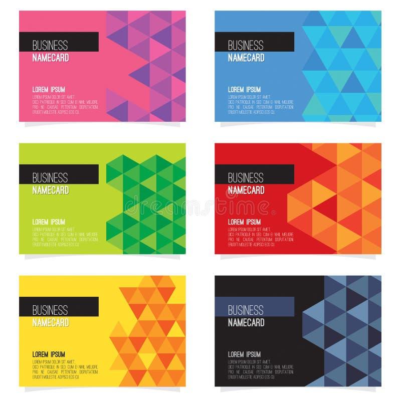 Grupo de seis cartões de nome abstratos ilustração royalty free