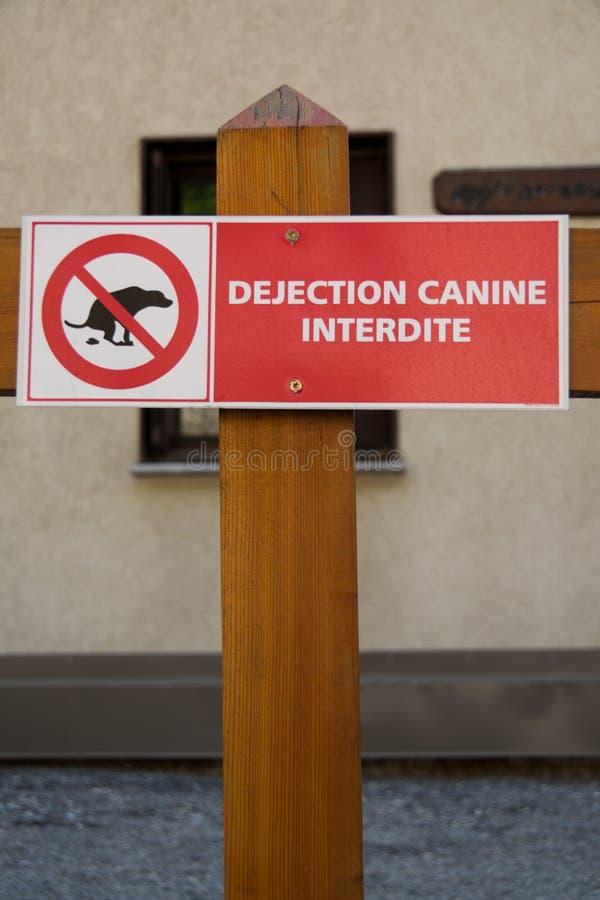 Grupo de sinais deixando cair do cão imagem de stock royalty free
