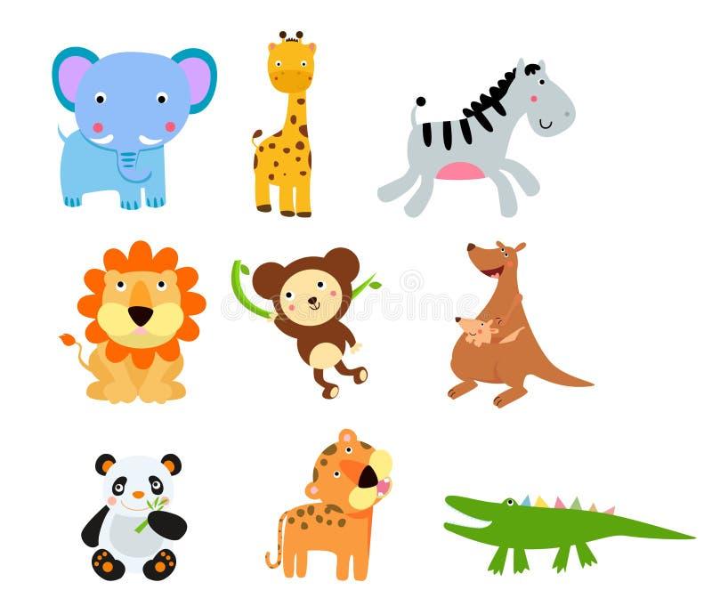 Grupo de sistema de los animales stock de ilustración