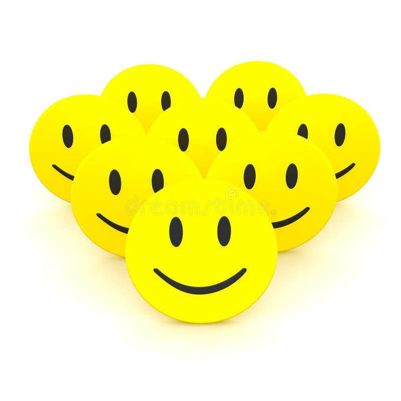Grupo de smiley ilustração royalty free