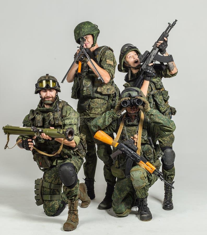 Grupo de soldados do russo foto de stock royalty free