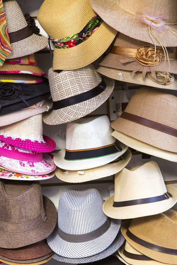 Grupo de sombreros del tango, Buenos Aires fotografía de archivo libre de regalías