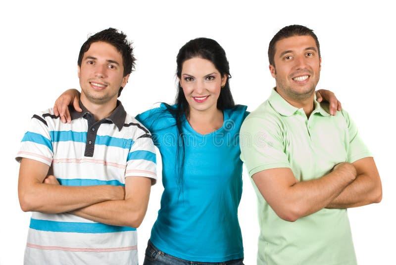 Grupo de sorriso feliz de amigos fotografia de stock royalty free