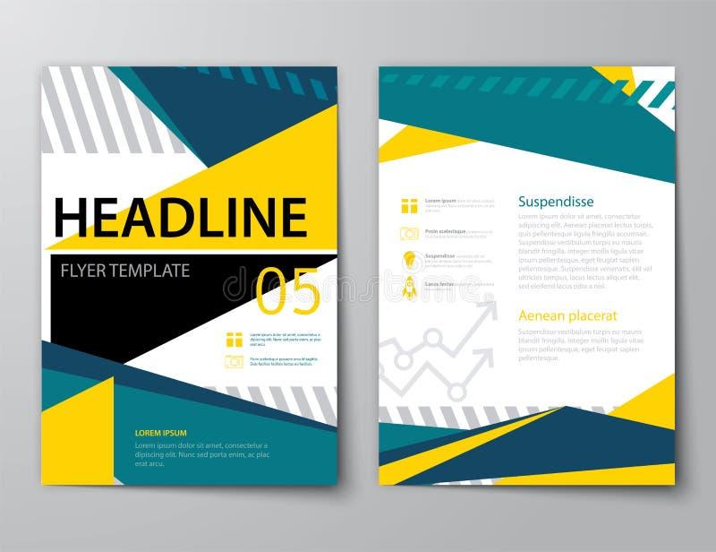 Grupo de tampa de revista de negócios, inseto, folheto ilustração stock
