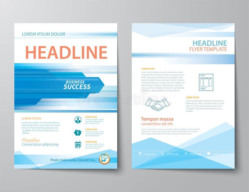 Grupo de tampa de revista de negócios, inseto, projeto liso do folheto ilustração stock