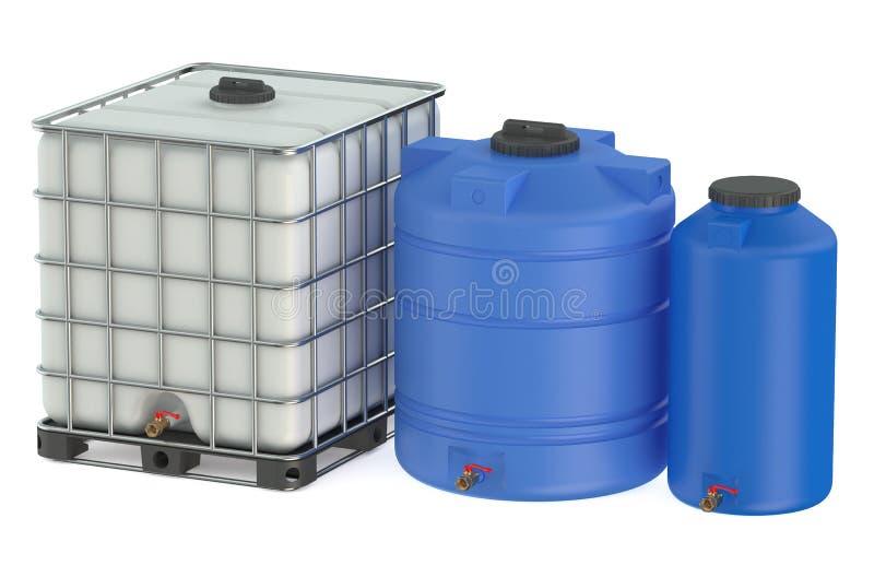 grupo de tanques de gua pl sticos ilustra o stock On estanques de agua plasticos
