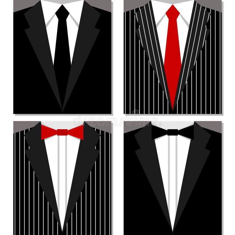 Grupo de ternos ilustração royalty free