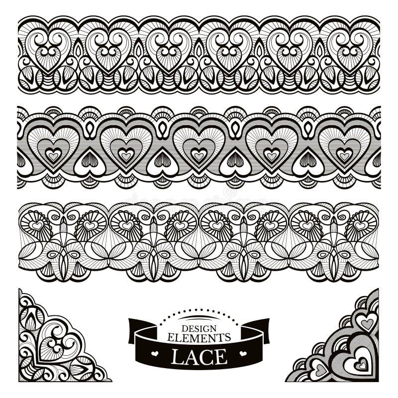 Grupo de testes padrões do laço ilustração royalty free