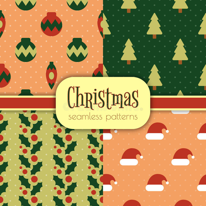 Grupo de testes padrões do Natal fotos de stock royalty free