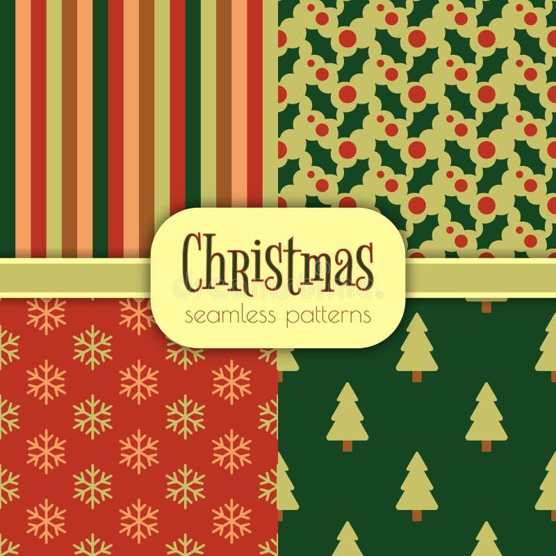 Grupo de testes padrões do Natal imagens de stock