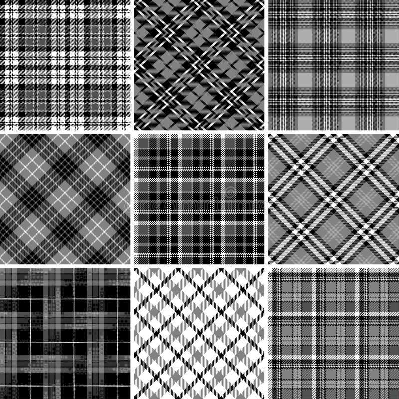 Grupo de testes padrões sem emenda da tartã ilustração royalty free
