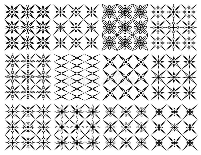 Grupo de testes padrões sem emenda das texturas sem emenda ilustração royalty free