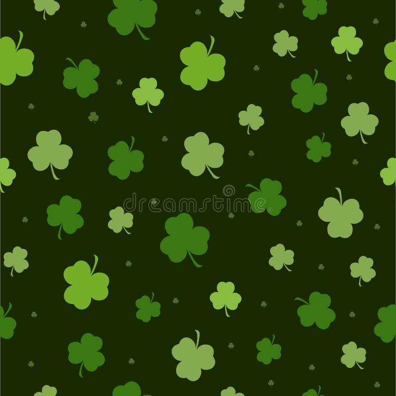 Grupo de testes padrões sem emenda do dia de St Patrick perfeitos para papéis de parede, suficiências de teste padrão, fundos da  ilustração do vetor