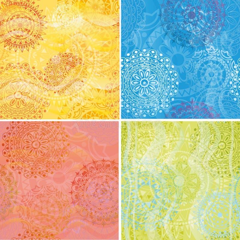 Grupo de texturas ilustração stock
