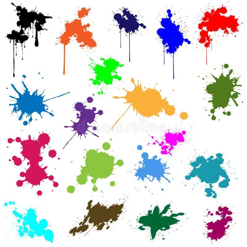 Grupo de tinta em cores diferentes ilustração royalty free