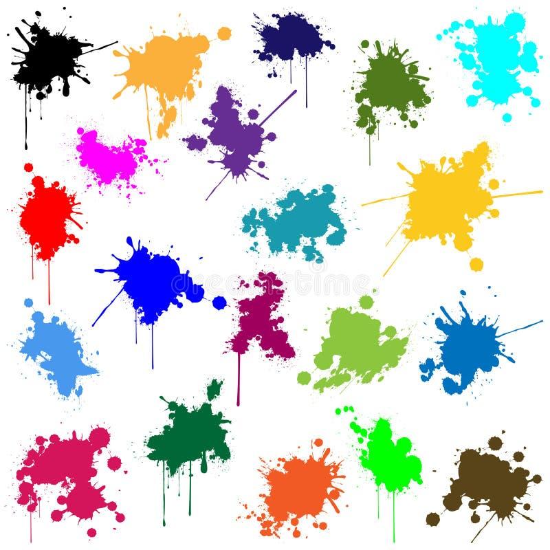 Grupo de tinta em cores diferentes ilustração stock