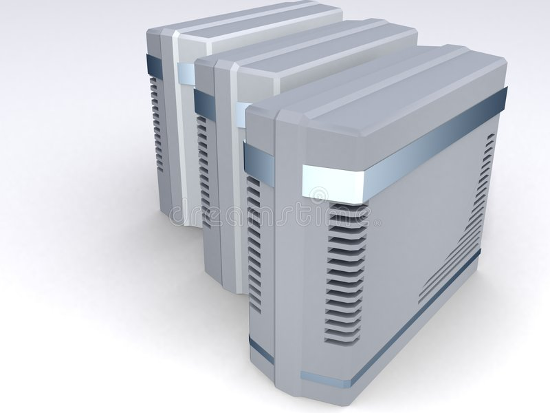 Grupo de torres del ordenador libre illustration