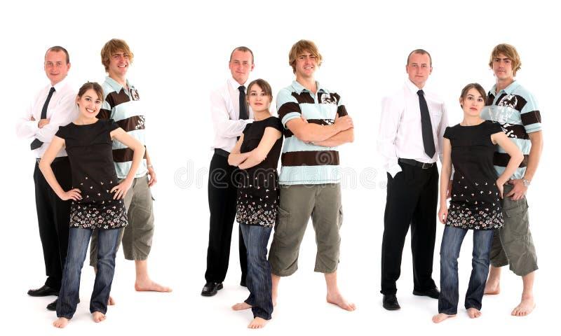 Grupo de três fotografia de stock