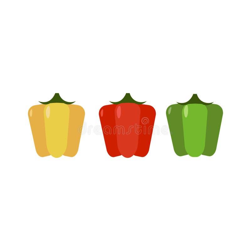 Grupo de três pimentas ilustração stock