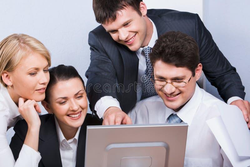 Grupo de trabalhadores imagem de stock