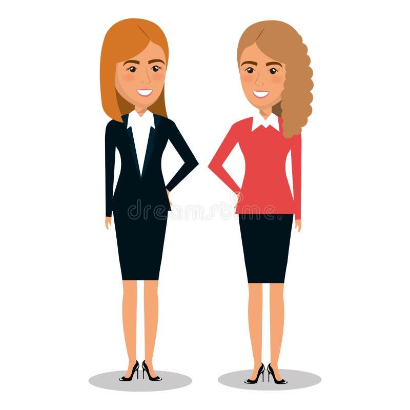 Grupo de trabalhos de equipa da mulher de negócios ilustração royalty free