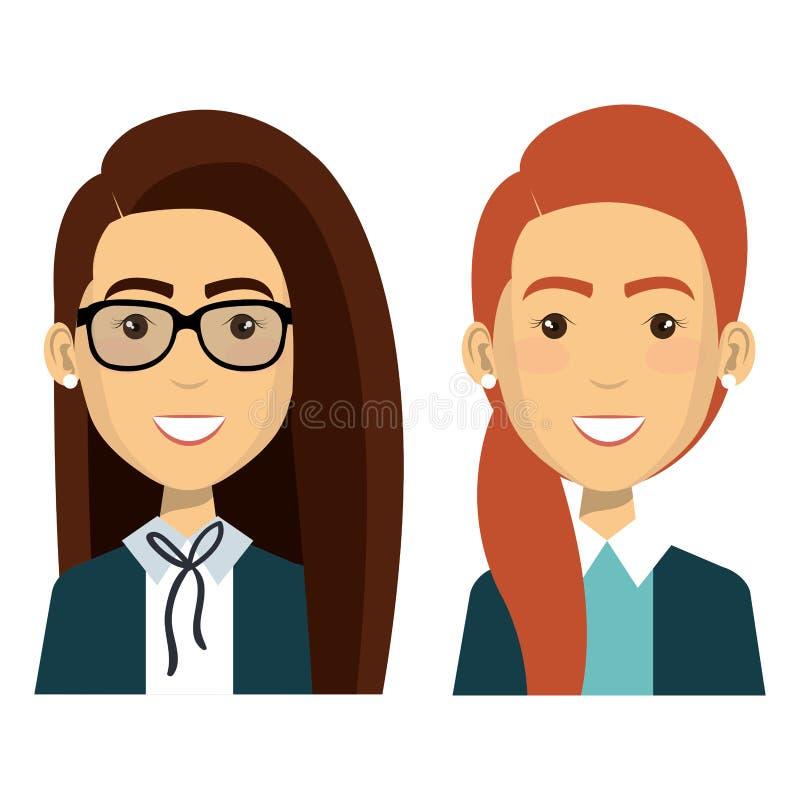 Grupo de trabalhos de equipa da mulher de negócios ilustração stock