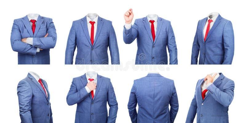 Grupo de trajes ocos isolados imagem de stock royalty free