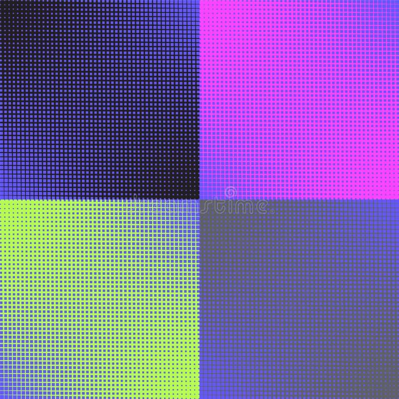 Grupo de uma cor de quatro fundos imagem de stock