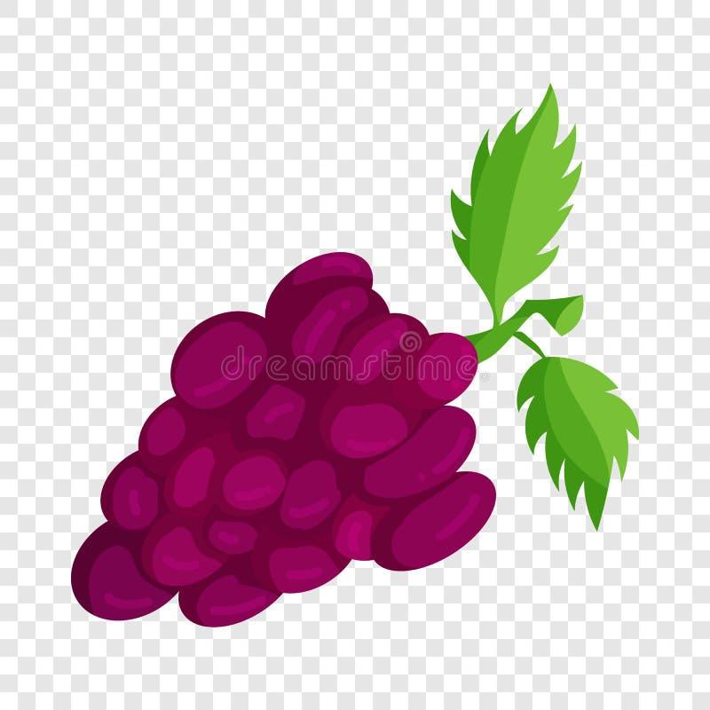 Grupo de uvas ?cone, estilo dos desenhos animados ilustração stock
