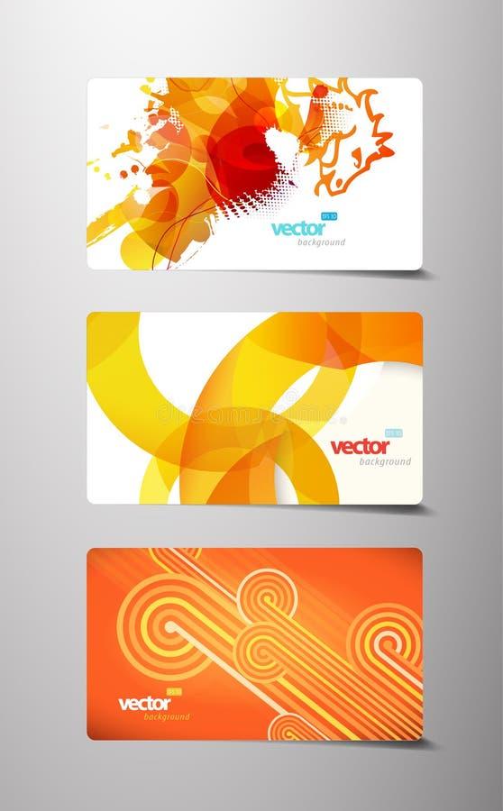 Grupo de vales-oferta coloridos abstratos ilustração royalty free
