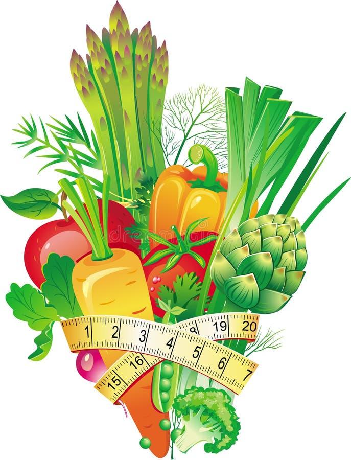 Grupo de vegetais ilustração royalty free