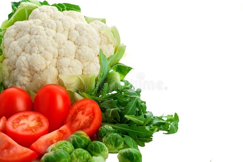 Grupo de vegetais no fundo branco fotografia de stock royalty free