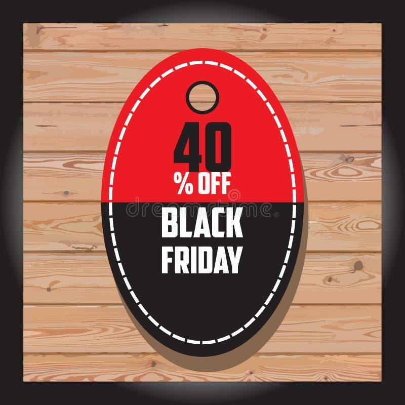 Grupo de venda preta de sexta-feira Bandeira preta de sexta-feira Bandeira da venda disco foto de stock