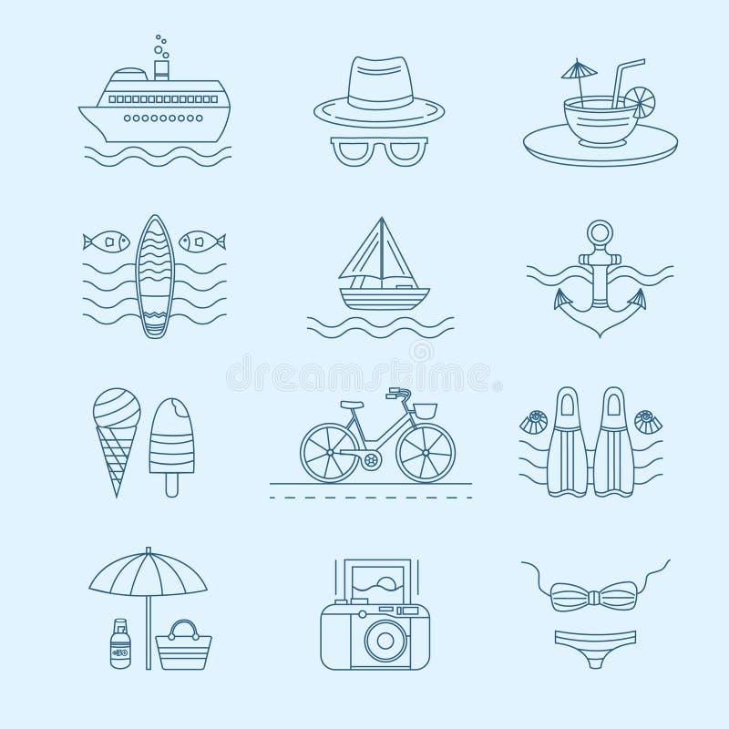 Grupo de verão ilustração royalty free