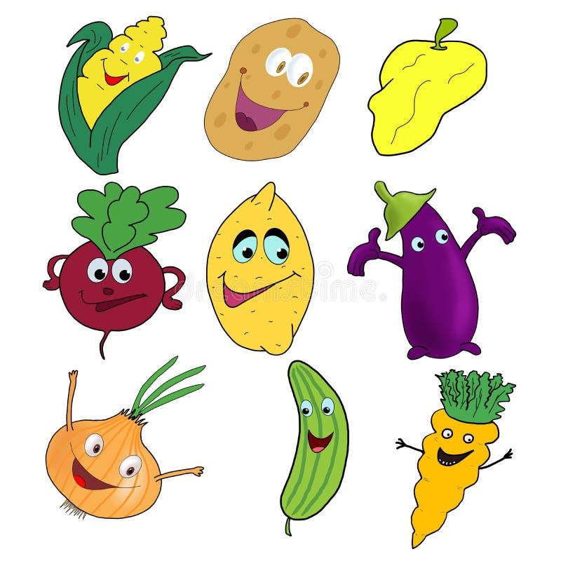 Grupo de verduras stock de ilustración