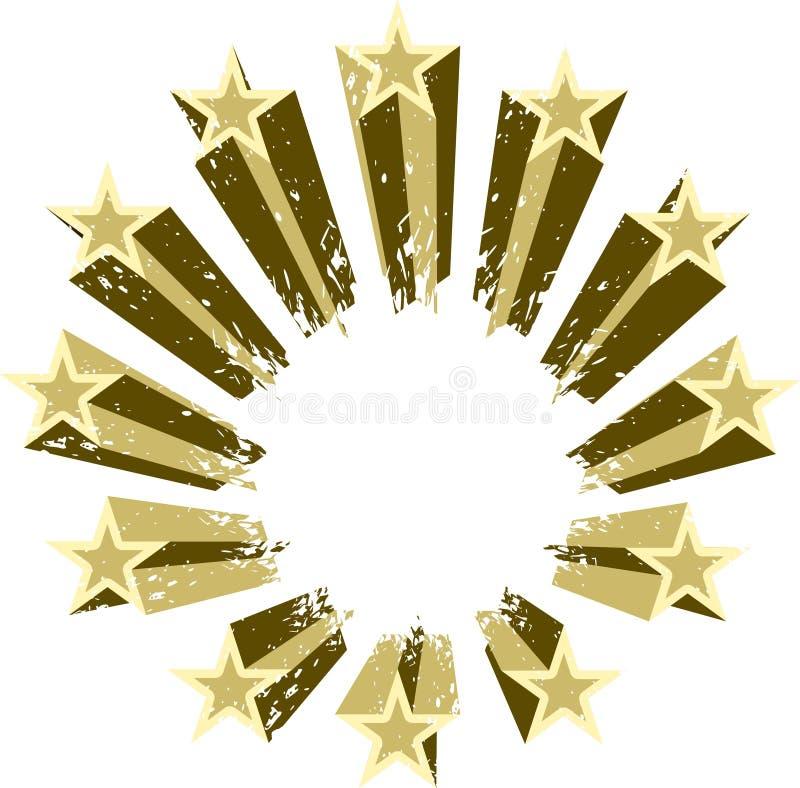 Grupo de vetor das estrelas de tiro ilustração royalty free