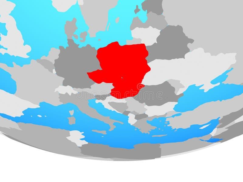 Grupo de Visegrado en el globo stock de ilustración