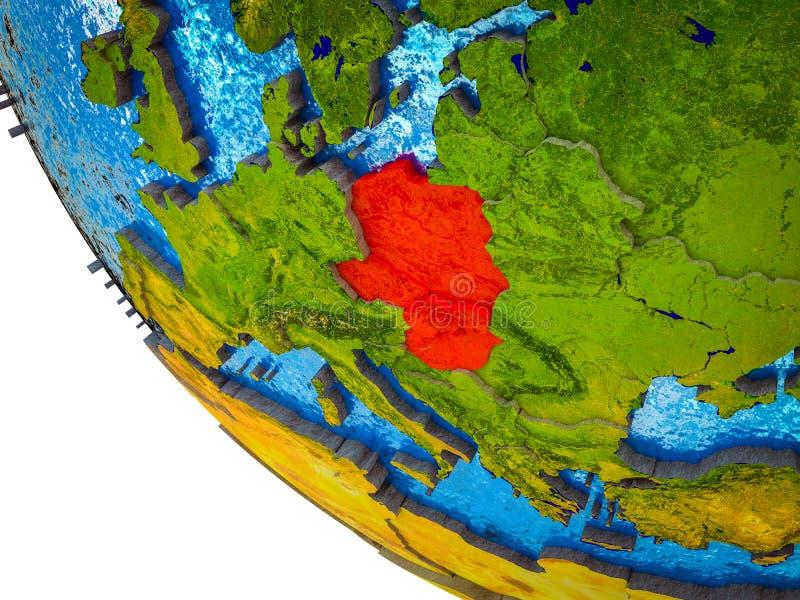 Grupo de Visegrado en la tierra 3D ilustración del vector