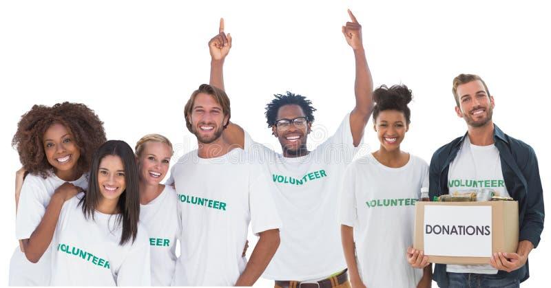 grupo de voluntarios fotos de archivo