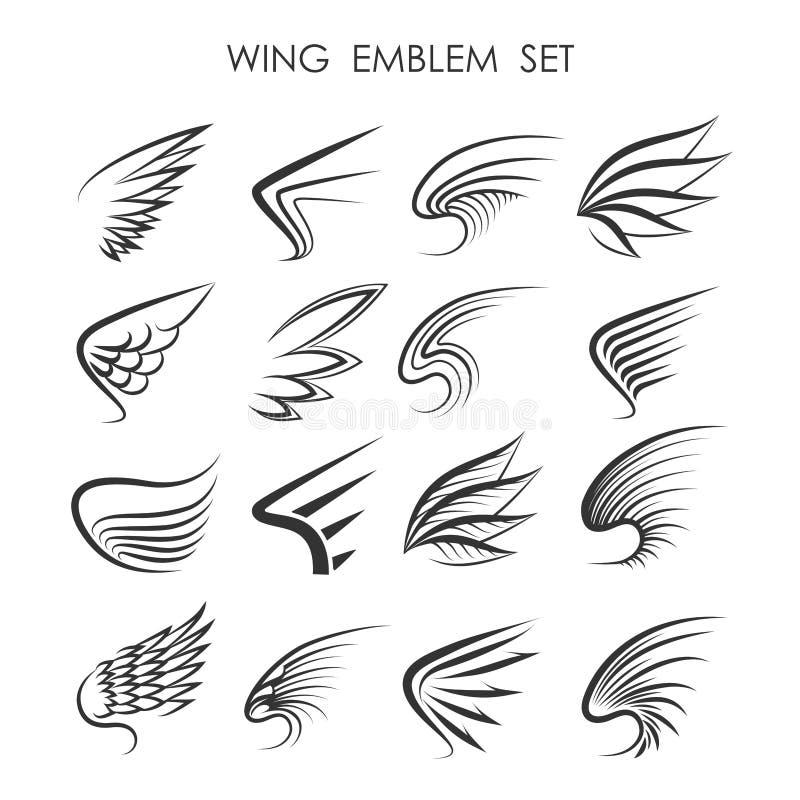 Grupo de Wing Logo ilustração royalty free